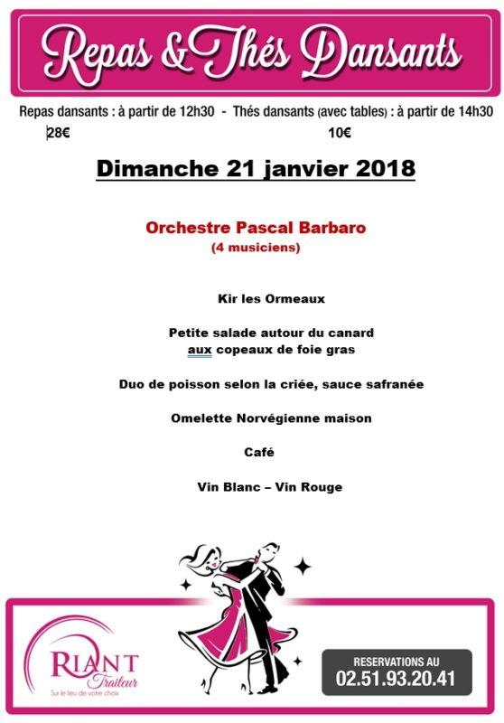 Calendrier des thès dansants en Vendée