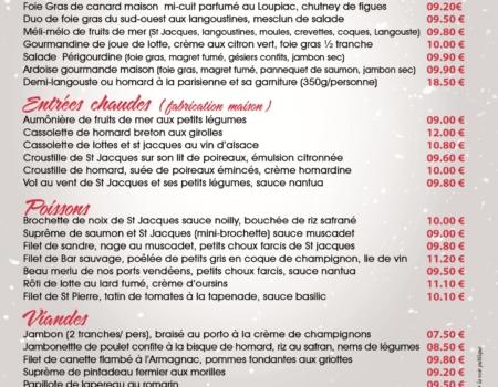 Carte traiteur fêtes 2017-2018 Vendée