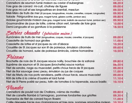 Carte traiteur fêtes 2015 Vendée