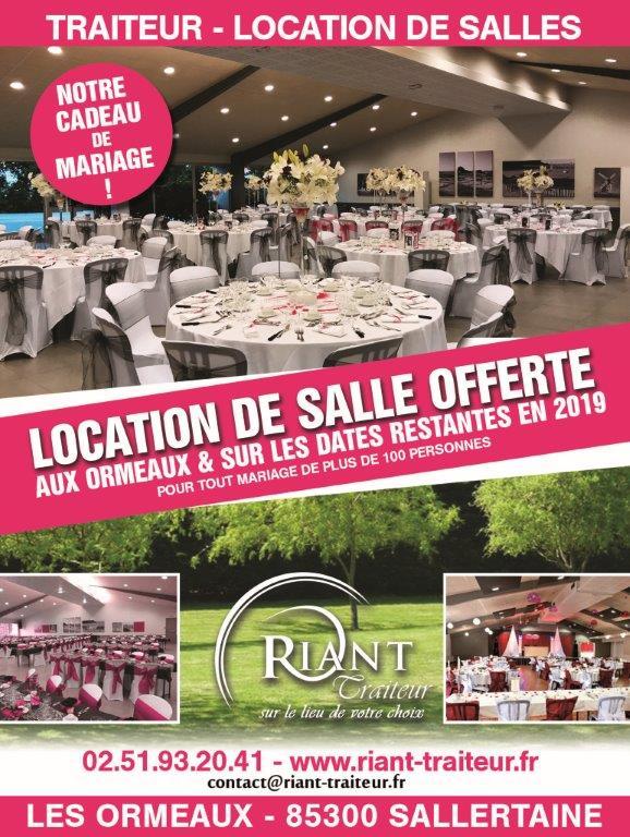 Location de salle offerte ou gratuite en Vendée