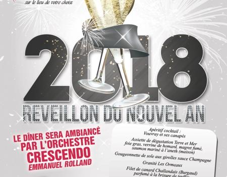 Réveillon du Nouvel An 2018, le 31 décembre 2017 à 20h