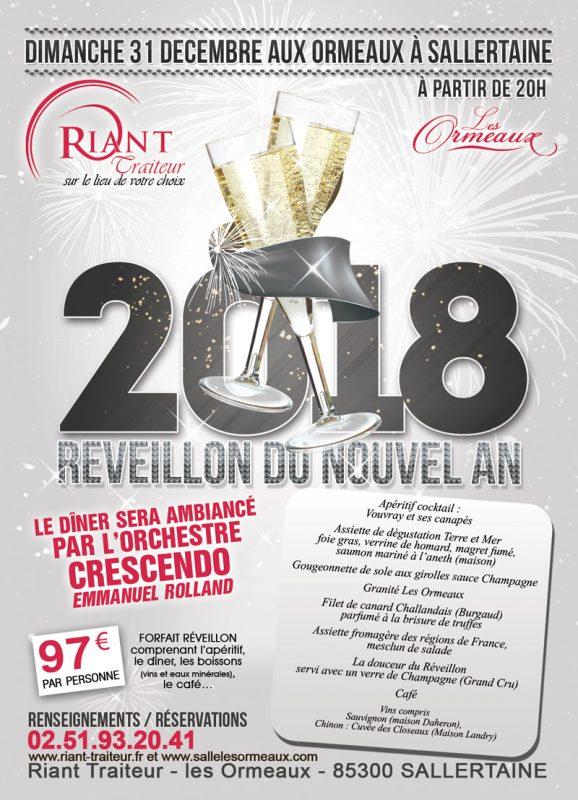 R veillon du nouvel an 2018 le 31 d cembre 2017 20h riant traiteur vend e - Idee repas reveillon 31 decembre ...